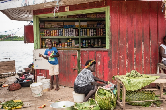 Adjacent to the Central Market, Gizo, Ghizo Island, Solomon Islands, is this small dry goods store