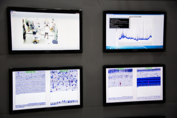 All of the region_s seismic activity is monitored an displayed on computer monitors at the Rabaul Seismic Observatory on a hill in Rabaul, Papua New Guinea, overlooking Simpsons Harbou