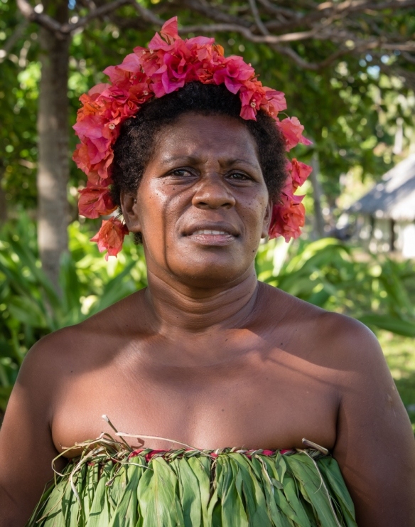 "Another of the ""Water Women"" on shore, before the group_s performance, Mavea Island, Vanuatu"