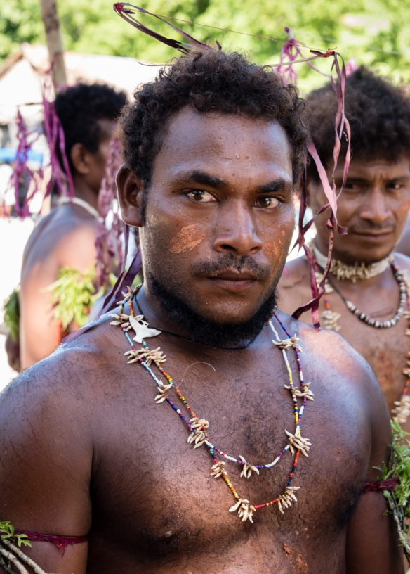 Another of the men dancers before the festivities began [see our upcoming blog post], Santa Ana, Solomon Islands