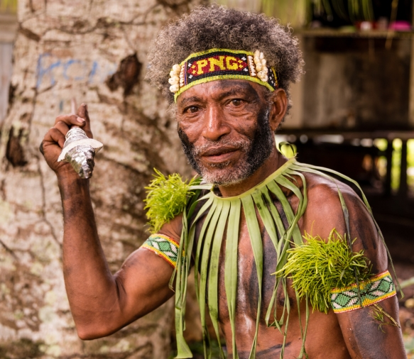 Another of the warriors who welcomed us to the island, Baluan Island, Papua New Guinea