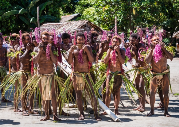 Fifth dance troupe (I), Traditional Ceremonial Dances on Santa Ana, Solomon Islands