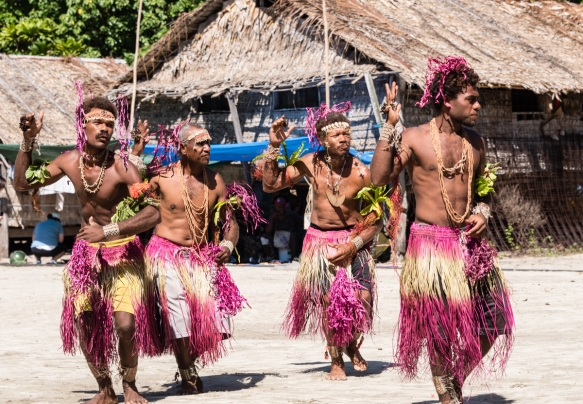 First dance troupe (II), Traditional Ceremonial Dances on Santa Ana, Solomon Islands