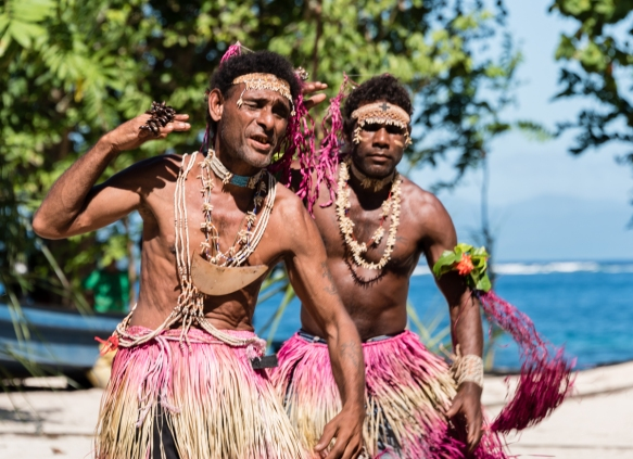 First dance troupe (III), Traditional Ceremonial Dances on Santa Ana, Solomon Islands