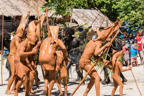 Fourth dance troupe (I), Traditional Ceremonial Dances on Santa Ana, Solomon Islands