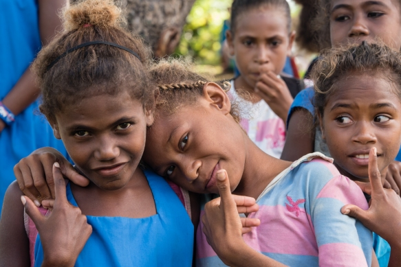 Friendship, caring, sharing and welcoming are some of the desriptors for the wonderful islanders we met on Santa Ana, Solomon Islands; on our hike across the island, after the dances, mo