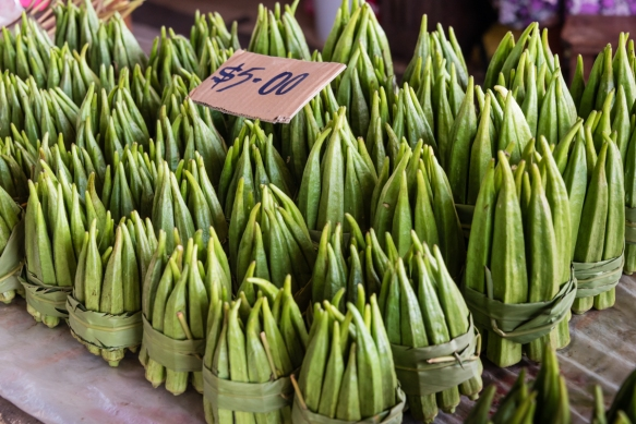 Okra, Central Market, Honiara, Guadalcanal, Solomon Islands