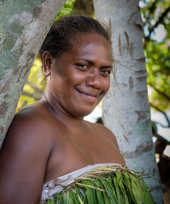 "One of the ""Water Women"" on shore, before the group_s performance, Mavea Island, Vanuatu"