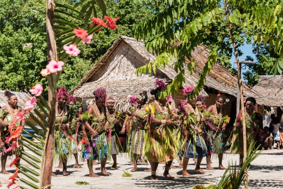 Second dance troupe (I), Traditional Ceremonial Dances on Santa Ana, Solomon Islands