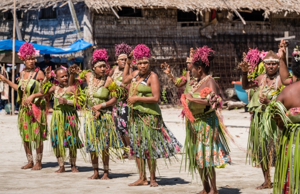 Second dance troupe (II), Traditional Ceremonial Dances on Santa Ana, Solomon Islands