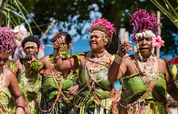 Second dance troupe (III), Traditional Ceremonial Dances on Santa Ana, Solomon Islands
