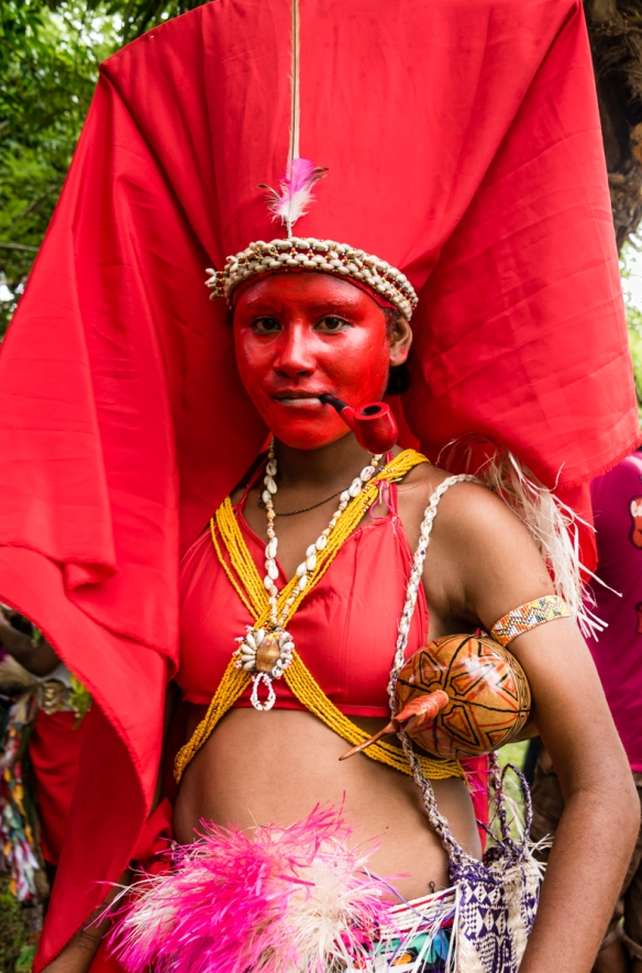The bridal dress and headdress, Baluan Island, Papua New Guinea