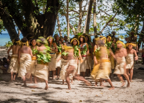 The first ceremonial dance on Tikopia, Solomon Islands