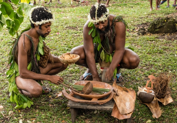 The first ceremony we watched was the making of kava drink from the roots of the kava plants, Baluan Island, Papua New Guinea; the drink has sedative, anesthetic, euphoriant and entheige