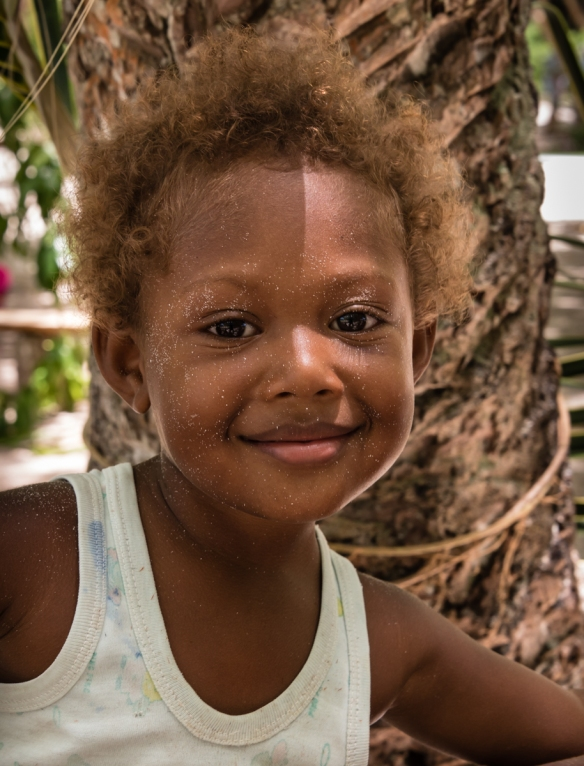 The smile says it all – the entire community was warm and welcoming, Loh Island, Torres Islands, Vanuatu