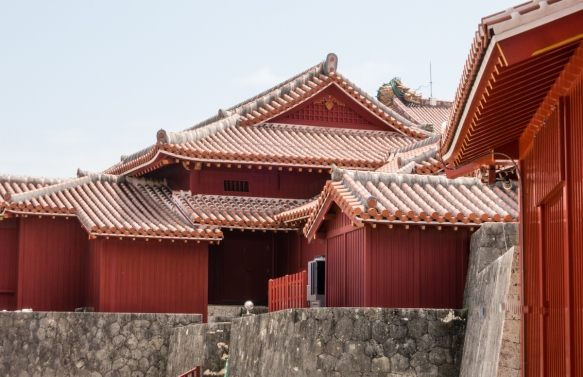 These castle buildings (all reconstructed in 1992 following the castles destruction in the battle of Okinawa in 1945) served as offices for the King_s retainer and government officials