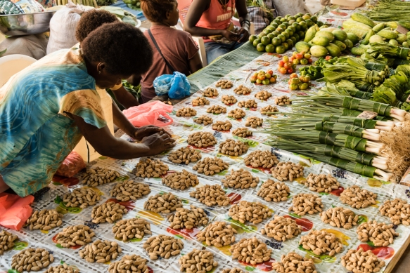 This group of vendors had quite a variety of produce – small piles of peanuts for snacking while shopping, and produce to take home, including green onions, limes, bok choy, and tomato