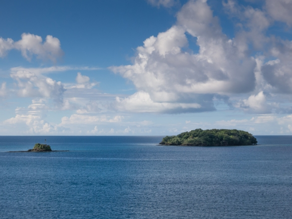 With 584 islands, The Republic of Palau has limestone islands with lush vegetation ranging in size from tiny to moderate in southern Micronesia