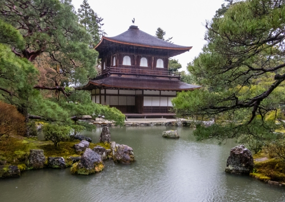 "A national treasure, Kannon-den or Ginkaku (the ""silver pavilion"") is unusual in that the first floor is built in the Shoin style (a traditional Japanese residential architectural st"