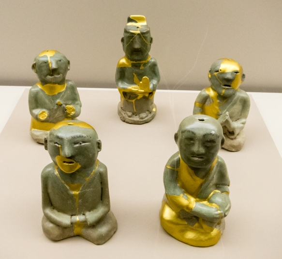 Celadon figures created during the Goryeo Dynasty, Busan Museum, Busan, South Korea