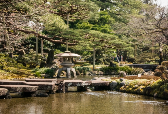 Considered to be one of the three great gardens of Japan, Kenroku-en, Kanazawa, Honshu Island, Japan, was built during the Edo-period by the powerful Maeda clan in the 1600_s