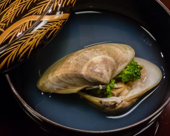 """Clam soup"", Kaiseki (sushi dinner), Kanazawa, Honshu Island, Japan"