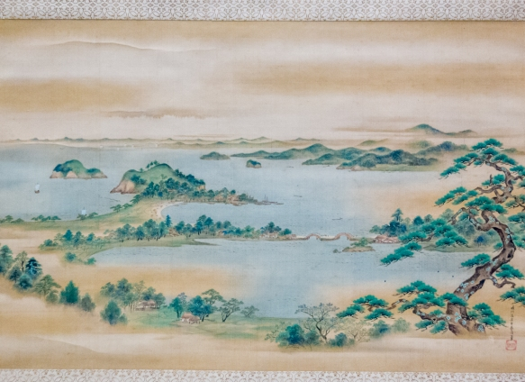 """Kanazawa, Musashi Province"" by Kano Osanobu {Seisen_in} (1796-1846), color on silk, Edo period, 19th century, Tokyo National Museum, Tokyo, Japan"