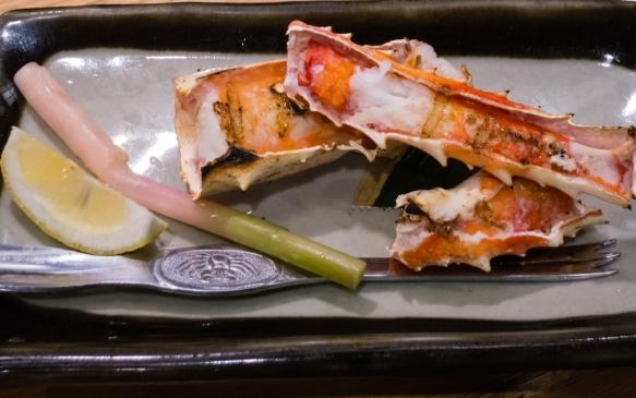 Grilled crab legs, Inakaya (Roppongi East), Tokyo, Japan