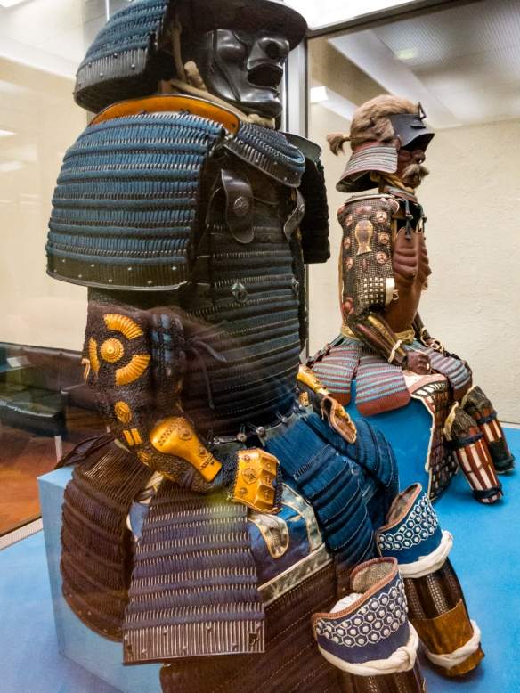 Gusoku Type Armor with two-piece cuirass with dark blue lacing, Edo period, 17th-18th century, Tokyo National Museum, Tokyo, Japan