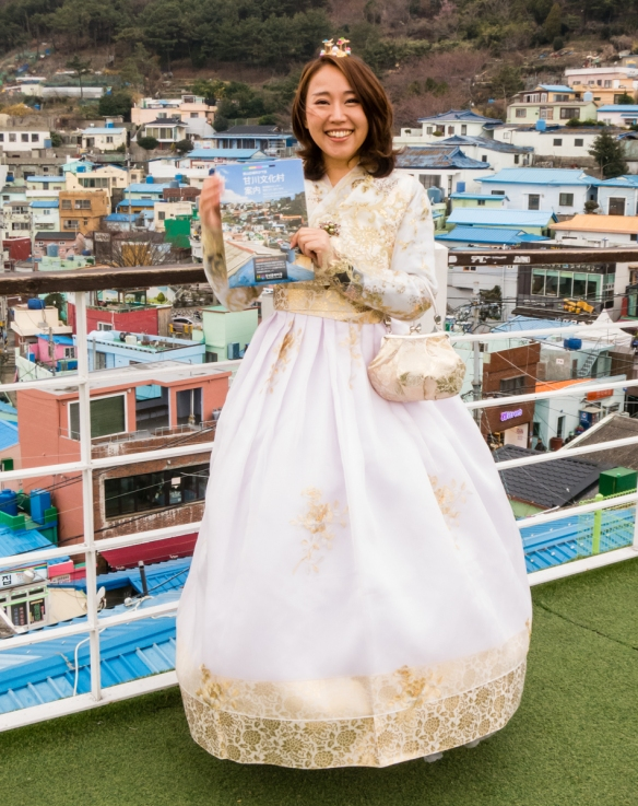 Locals love having their (wedding) portraits made at Gamcheon Culture Village, Busan, South Korea