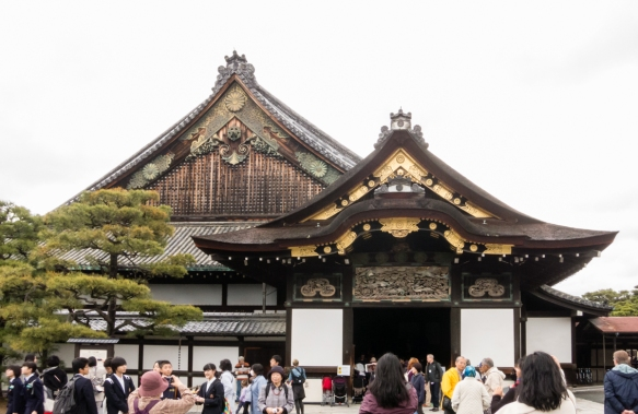 The entry to the residence of the Shogun_s family residence, Ninomaru-goten Palace, which was moved to and expanded within Nijo-jo Castle, Kyoto, Japan, by Tokugawa Ieyasu, the first S