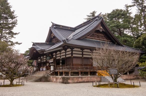 The main shrine building, Oyama Jinja Shrine, Kanazawa, Honshu Island, Japan