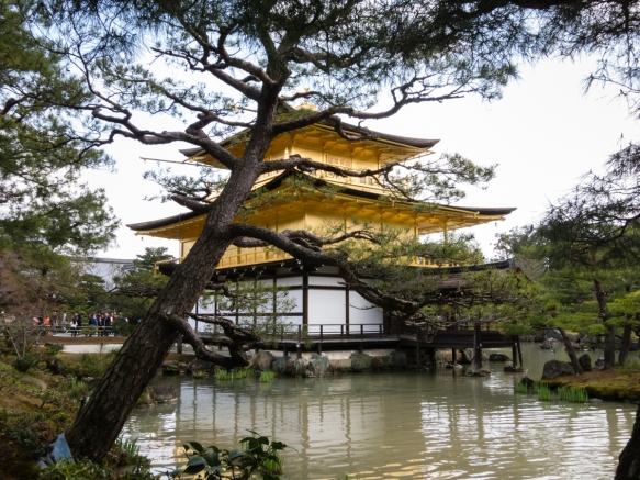 The pavilion is part of a temple that is formally named Rokuon-ji Temple, but commonly called Kinkaku-ji Temple or Temple of the Golden Pavilion, Kyoto, Japan