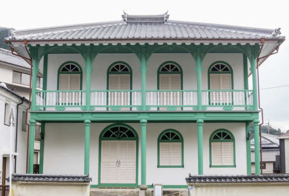 This 19th century home was built in the style of the Portuguese settlers in Nagasaki (who had a concession as the only European traders allowed to live in Japan – and only on an island