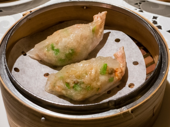 Crab and pork steamed dumplings, Spring Moon in the Peninsula Hotel, Hong Kong, S.A.R., People_s Republic of China
