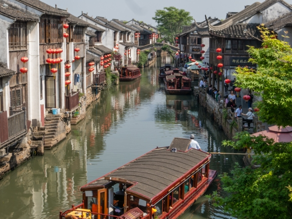 Our ride down the Grand Canal, Suzhou, China, was in one of the boats pictured here