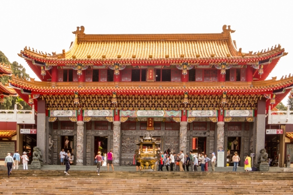 The front temple hall of Wen-Wu Temple, Sun Moon Lake, Taichung, Taiwan