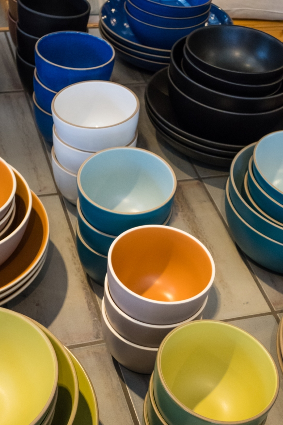 A rainbow of colors, Heath Ceramics, San Francisco, CA, USA--
