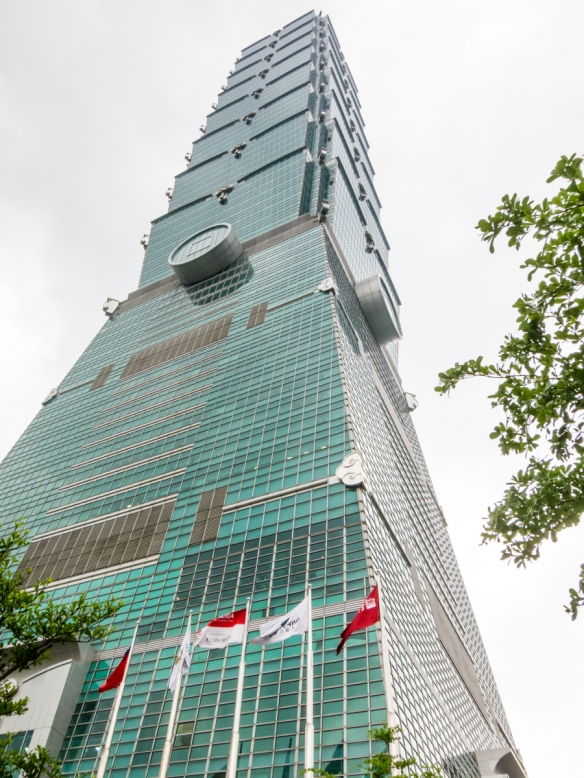 After being up on the observation level (89th floor) -- near the top of the building – going back outside and looking up at Taipei 101_s exterior you realize how big this skyscraper