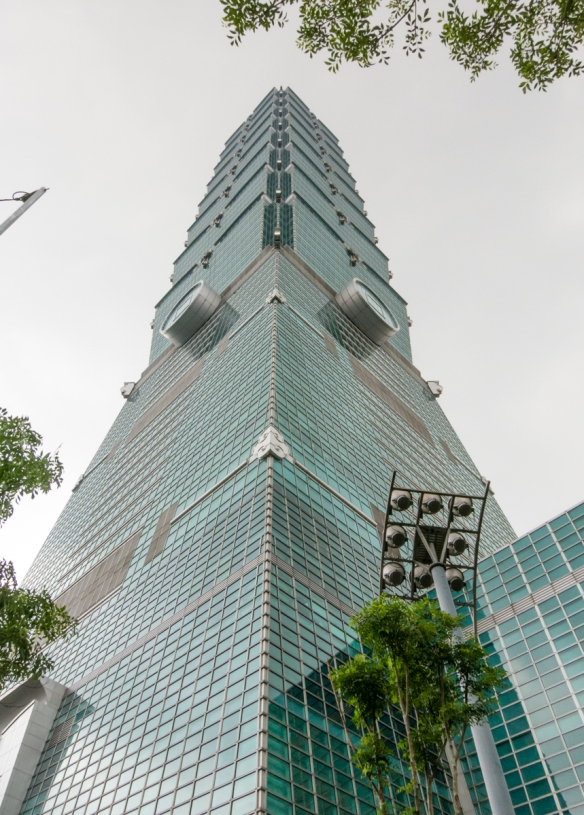 One of the top attractions in Taipei, Taiwan, is the Taipei 101 skyscraper and observatory that stands at 1,666 feet - 508 meters tall and is the fifth highest skyscraper in the world