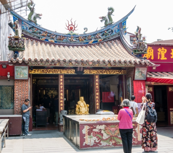 "The exterior of the Taipei Xiahai City God Temple, one of the ""Top 100 Religious Sites of Taiwan"", Taipei, Taiwan"
