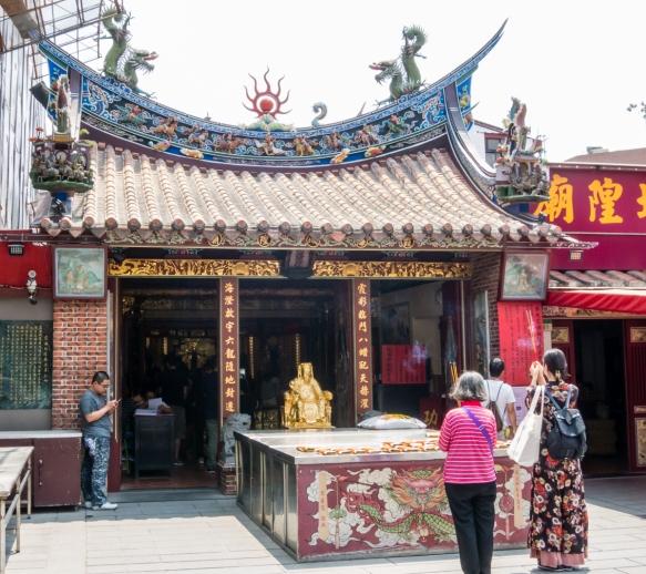 "The exterior of the Taipei Xiahai City God Temple, one of the ""Top 100 Religious Sites of Taiwan"", Taipei, Taiwan"