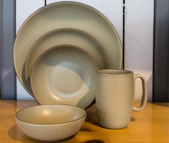 Traditional Heath designed and mafufactured table ware, Heath Ceramics, San Francisco, CA, USA