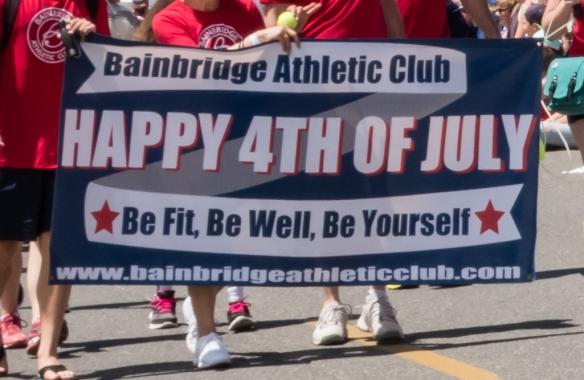 Celebrating American Independence Day -- a Grand Old 4th (of July) -- at the annual community celebration on Bainbridge Island, Washington, USA