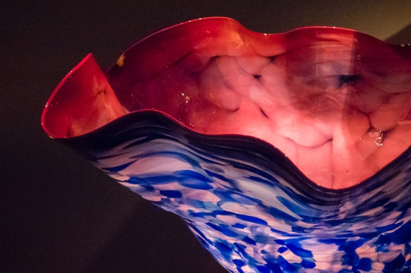 Details of one piece from the Macchia series, Chihuly Garden and Glass, Seattle, Washington, USA