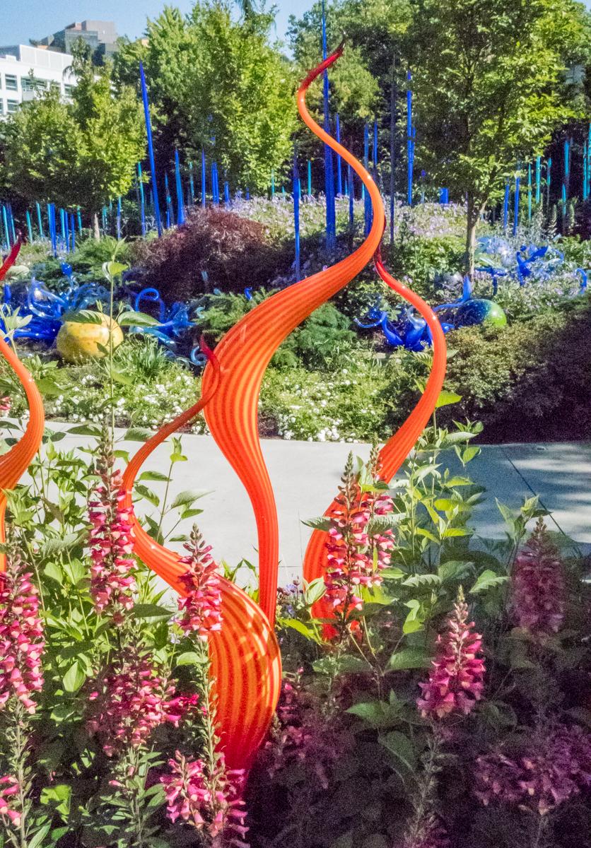 Merveilleux Garden Sculptures, Chihuly Garden And Glass, Seattle, Washington, USA