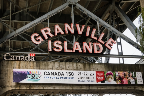 Granville Island, Vancouver, British Columbia, Canada, best known for its Public Market, is one of the most beloved public spaces in Vancouver