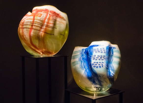 In a 1977 visit to the History Museum at the Washington State Historical Society Chihuly was impressed by a collection of Northwest Coast Indian Baskets and then created a series of Bask