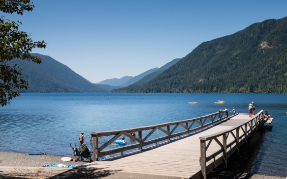 Lake Crescent in the Olympic National Park, Washington, USA, is a very popular recreation spot with a lodge on the southern shore where we had an outstanding catered picnic lunch before
