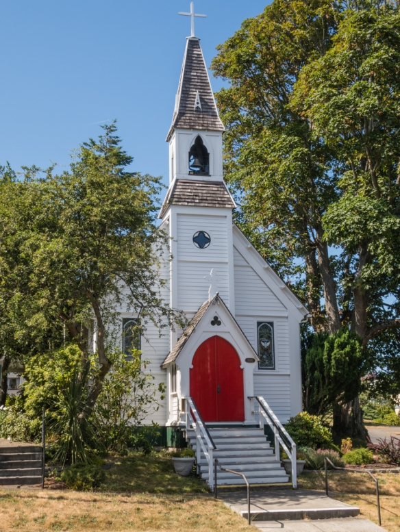One of many lovingly restored churches in Port Townsend, Washington, USA